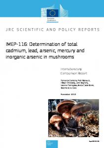 IMEP-116: Determination of total cadmium, lead, arsenic, mercury and