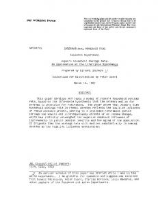 IMF WORKING PAPER WP/87/15 INTERNATIONAL ... - SSRN papers