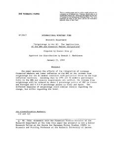 IMF WORKING PAPER WP/89/7 INTERNATIONAL ... - SSRN papers