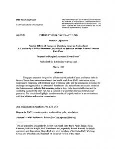 IMF Working Paper WP/97/23 INTERNATIONAL ... - SSRN papers
