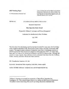 IMF Working Paper WP/98/102 INTERNATIONAL ... - SSRN papers