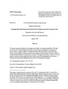 IMF Working Paper WP/98/107 INTERNATIONAL ... - SSRN papers