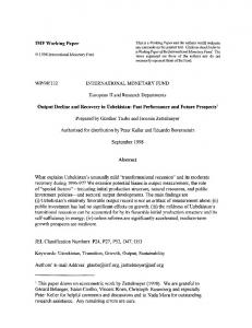 IMF Working Paper WP/98/132 INTERNATIONAL ... - SSRN papers