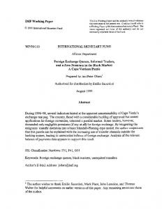 IMF Working Paper WP/99/110 INTERNATIONAL ... - SSRN papers