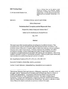 IMF Working Paper WP/99/91 INTERNATIONAL ... - SSRN papers