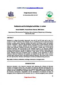 Imidazole and its biological activities: A review