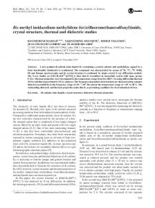 imide, crystal structure, thermal and dielectric studies