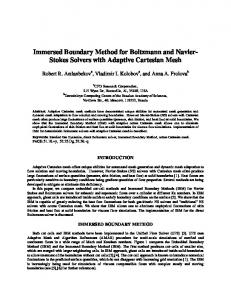 Immersed Boundary Method for Boltzmann and Navier-Stokes Solvers ...