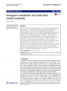 Immigrant assimilation and male labor market ... - Semantic Scholar