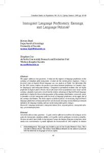 Immigrant Language Proficiency, Earnings, and Language Policies1