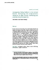 Immigration Policy Reform in the United States: Reframing the ...