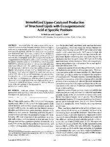 Immobilized lipase-catalyzed production of structured ... - Springer Link