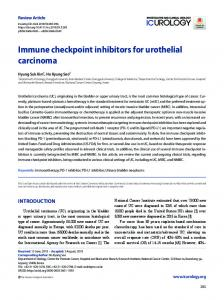 Immune checkpoint inhibitors for urothelial ... - KoreaMed Synapse