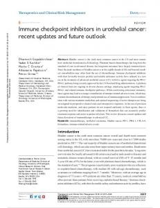 immune checkpoint inhibitors in urothelial cancer