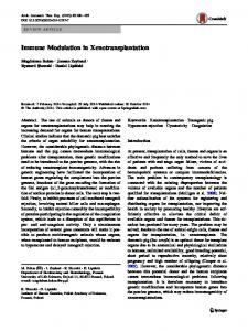 Immune Modulation in Xenotransplantation | SpringerLink