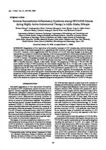 Immune Reconstitution Inflammatory Syndrome among HIV/AIDS ...