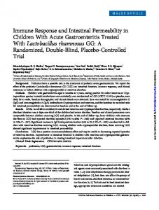 Immune Response and Intestinal Permeability in