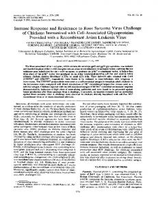 Immune Response and Resistance to Rous ... - Journal of Virology