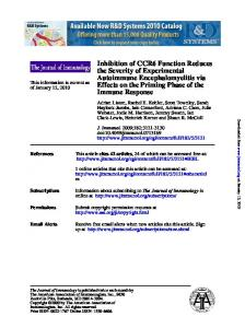 Immune Response Effects on the Priming Phase of the ... - Core