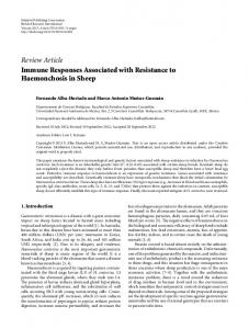 Immune Responses Associated with Resistance to Haemonchosis in ...