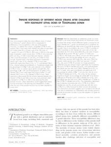 Immune responses of different mouse strains after challenge ... - Parasite