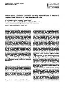 Immune Status, Carotenoid Coloration, and Wing ... - Springer Link