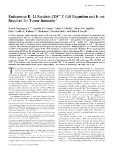 Immunity Expansion and Is not Required for Tumor T Cell + ...