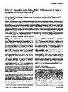 Immunity Regulatory 1 Cells to Suppress Antitumor T+ Dendritic Cells ...