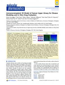 Immunocompetent 3D Model of Human Upper Airway for Disease ...