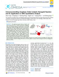 Immunocontrolling Graphene Oxide Catalytic ... - ACS Publications