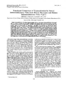 Immunodeficiency Virus Type 1 - PubMed Central Canada