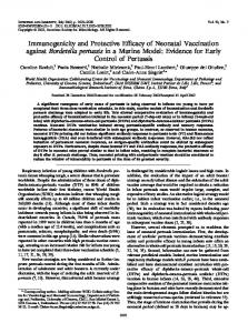 Immunogenicity and Protective Efficacy of Neonatal Vaccination ...