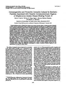 Immunogenicity and Protective Immunity Induced by Synthetic ...