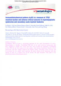 Immunohistochemical pattern of p53 is a measure of TP53 mutation ...
