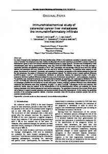 Immunohistochemical study of colorectal cancer liver metastases: the ...