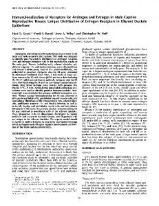 Immunolocalization of Receptors for Androgen and Estrogen in Male ...