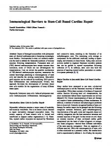 Immunological Barriers to Stem-Cell Based Cardiac Repair