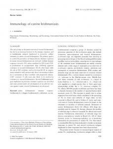 Immunology of canine leishmaniasis - Wiley Online Library