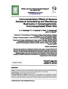 Immunomodulatory Effects of Aqueous Extracts of ...