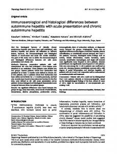 Immunoserological and histological differences ... - Wiley Online Library