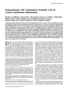 Immunotherapy with Costimulatory Dendritic Cells To Control ...