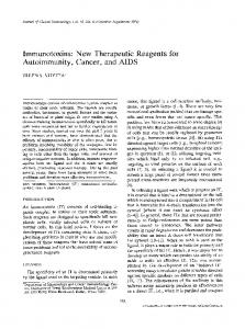 Immunotoxins: New therapeutic reagents for ... - Springer Link