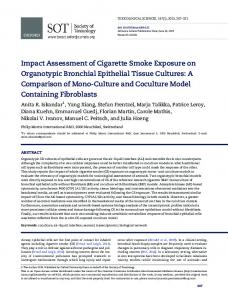 Impact Assessment of Cigarette Smoke Exposure on ... - Oxford Journals