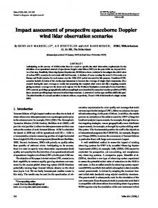 Impact assessment of prospective spaceborne ... - Wiley Online Library