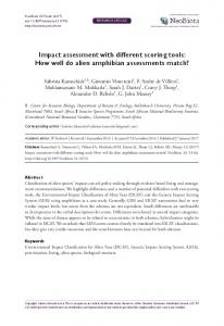 Impact assessment with different scoring tools: How well do ... - NeoBiota