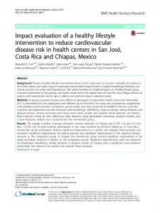 Impact evaluation of a healthy lifestyle intervention to ... - Springer Link