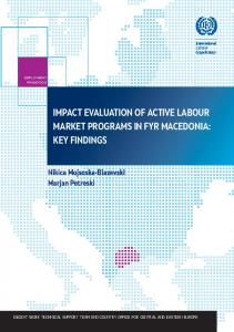 IMPact evaluatIoN of actIve laBour Market PrograMs IN fYr ... - ILO