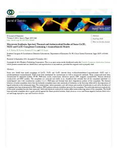 Impact Factor 0.622 Journal of Chemistry