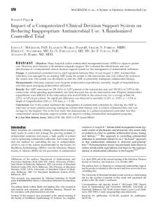 Impact of a Computerized Clinical Decision Support System on ...