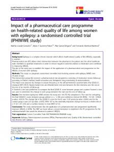 Impact of a pharmaceutical care programme on health-related quality ...